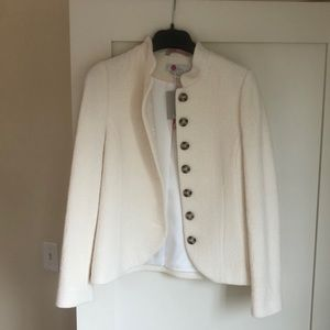 New With tags, boucle cream blazer